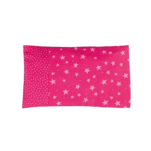 Kirschkernkissen 25x15cm - Sterne pink