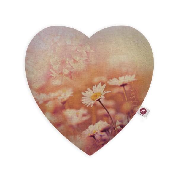 Motivkissen Herz 28x26cm - Blumenspiel