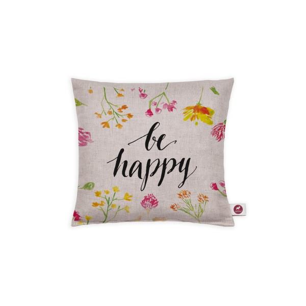 Motivkissen 20x20cm - Be Happy