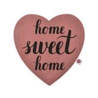 Motivkissen Herz 28x26cm - Home sweet home