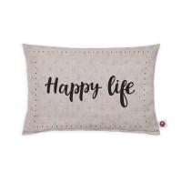 Motivkissen 30x20cm - Happy Life