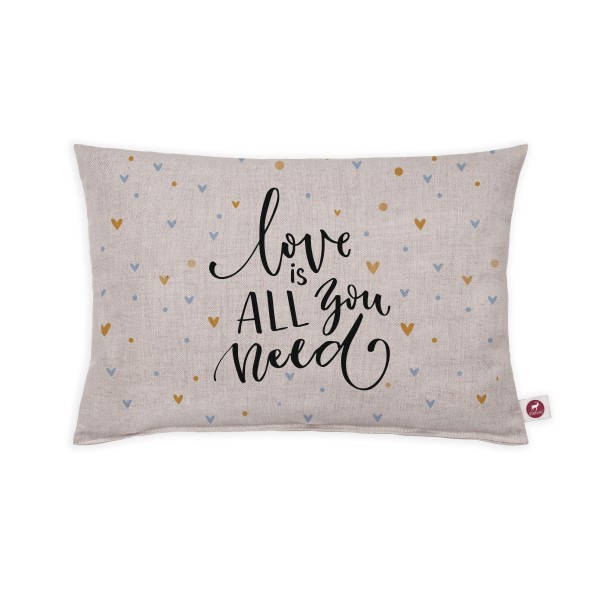 Motivkissen 30x20cm - Love is all you need