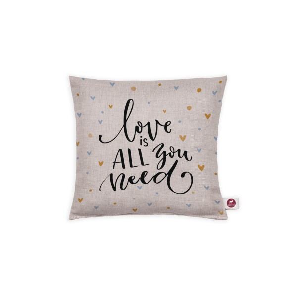 Motivkissen 20x20cm - Love is all you need