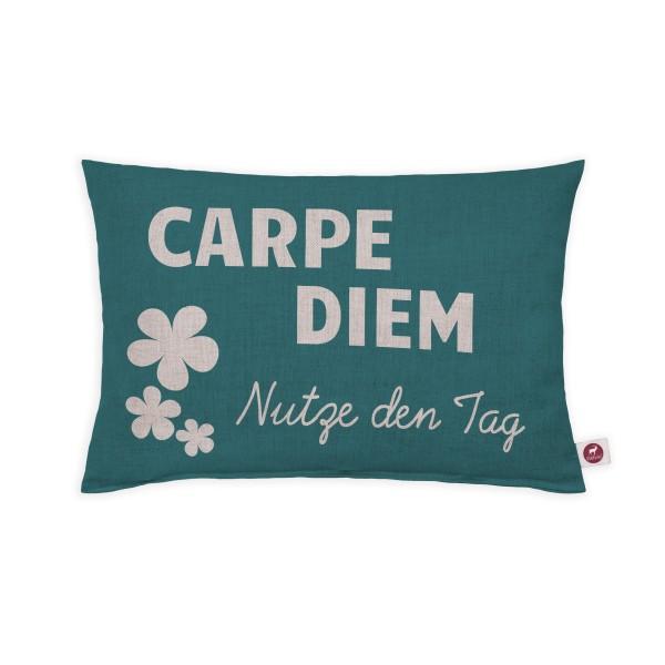 Motivkissen 30x20cm - Carpe Diem- Nutze den Tag