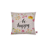 Motivkissen 20x20cm - Be Happy