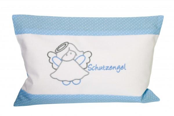 Kuschelkissen Schutzengel 30x20cm - blau