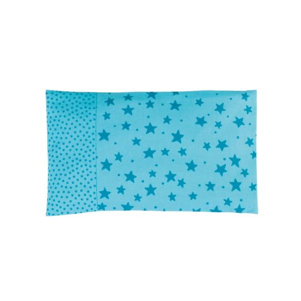Traubenkernkissen 25x15cm - Sterne türkis