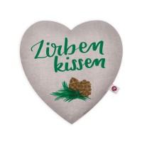 Motivkissen Herz 28x26cm - Zirbenkissen